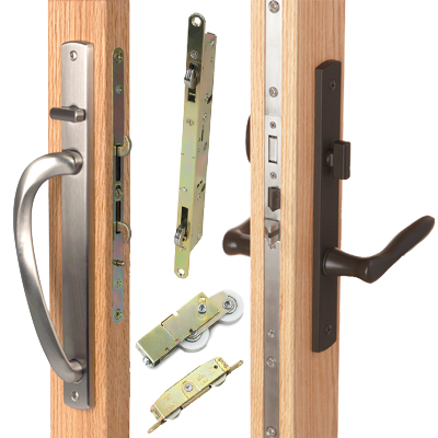 Sliding door lock sliding door locking hardware for Entry hardware